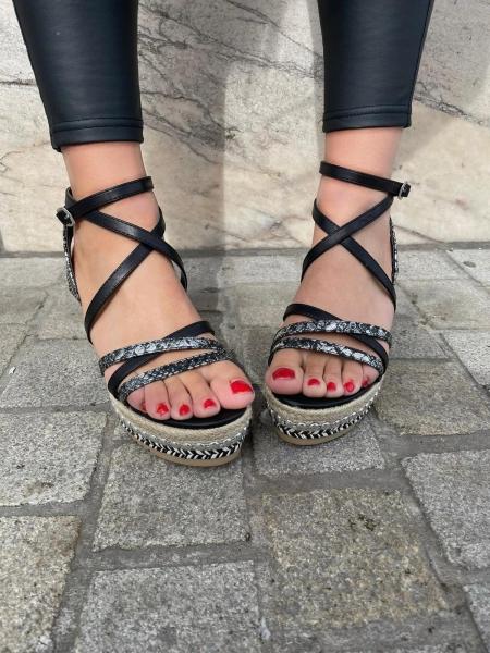 Damen Sandalen mit Keilabsatz