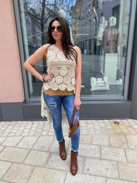 Damen distressed Slim-Fit Jeans