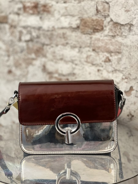 Damen metallic rot Damen Handtasche