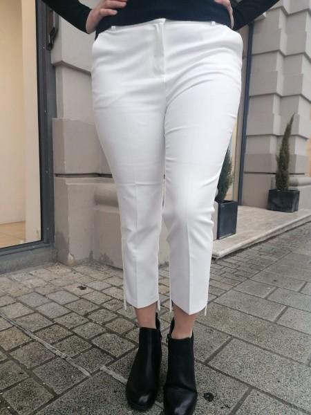 Danity sportlich elegante Stoffhose mit High Low Bein