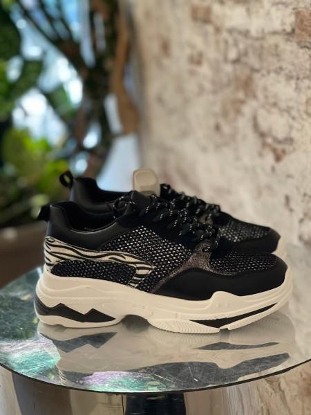 Damen Sneaker mit Zebra und Silber Design