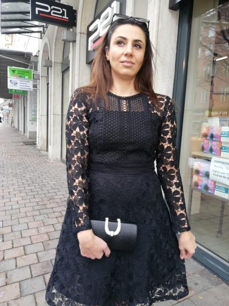 Damen Spitzen Kleid