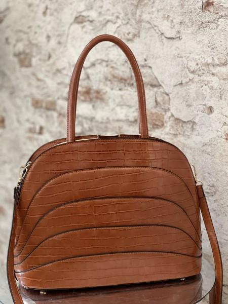 Damen elegante braune Handtasche