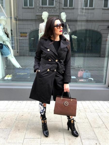 Damen langer Trenchcoat