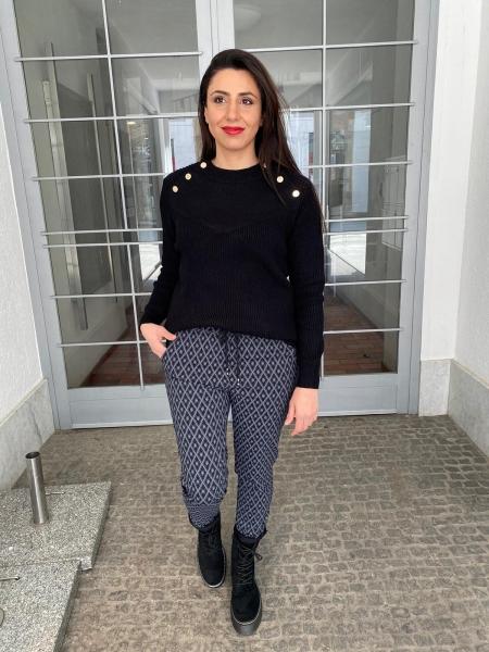 Damen gemütliche Muster Stoff Jogger