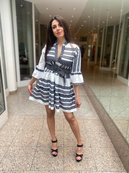 Damen Ibiza Kleid mit Muster