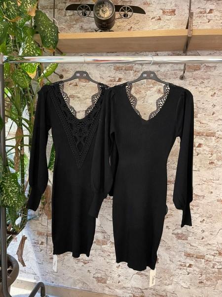 Damen Kleid mit Spitzen Rückenausschnitt