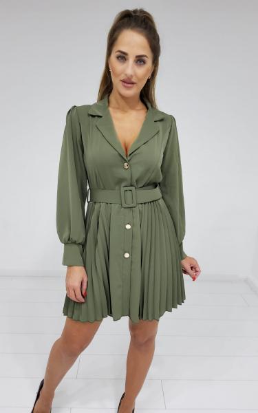 Damen Langarm Kleid mit Gürtel