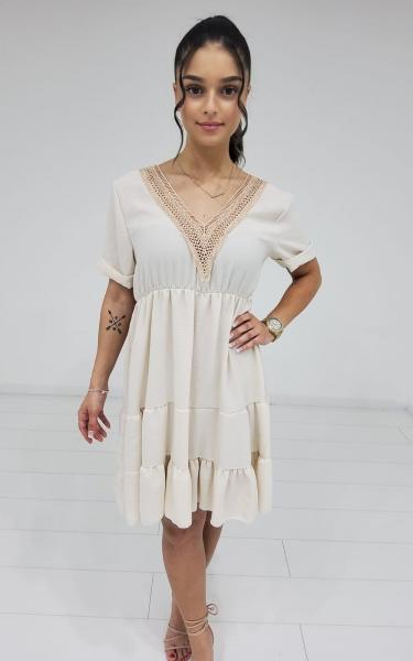 Damen Kleid mit Ausschnitt Detail