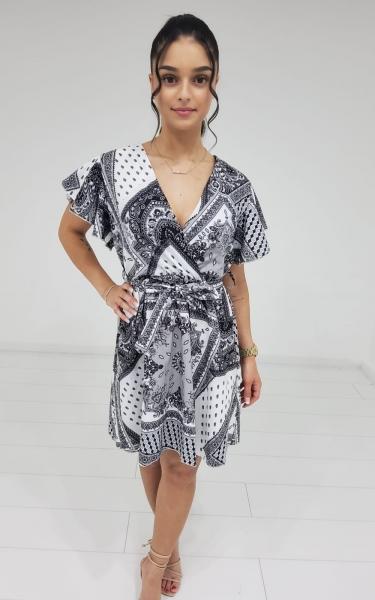 Damen Bandana Muster Kleid