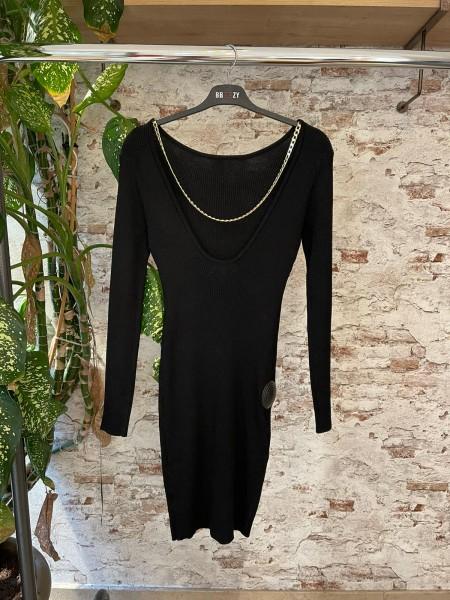 Damen Kleid mit Rückenausschnitt Goldkette