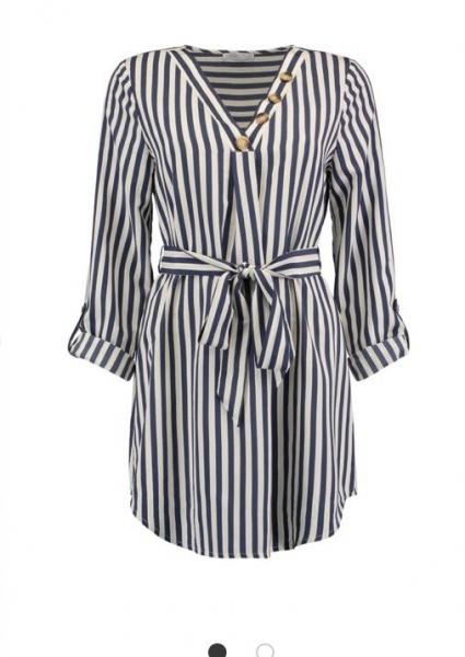 Damen Tunika Bluse mit Gürtel