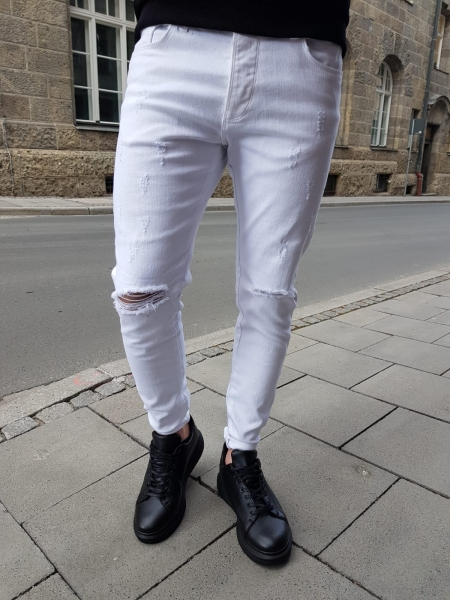 Herren ripped Slim Fit Jeans