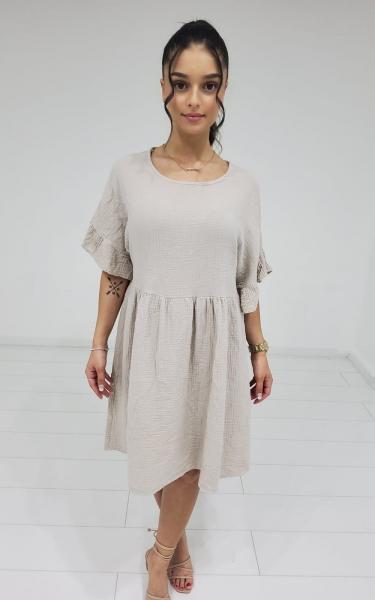 Damen Hängekleid mit Struktur