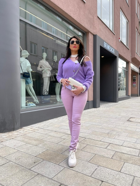 Damen farbige skinny Jeans