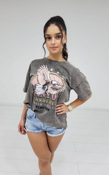 Damen Oversized Print T-Shirt
