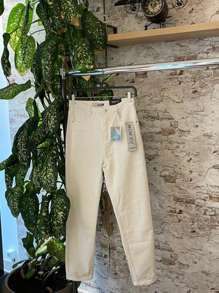 Damen weiße Mom Jeans