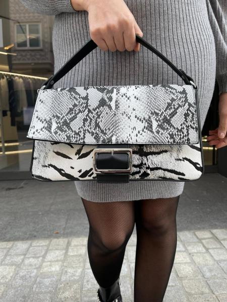 Damen Animal Print Mix Handtasche