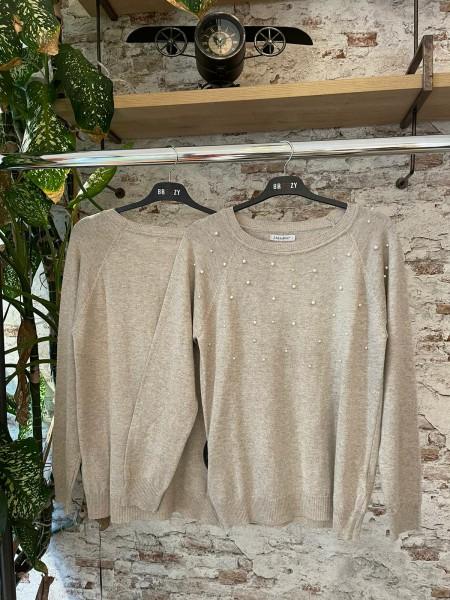 Damen Pullover mit Perlen