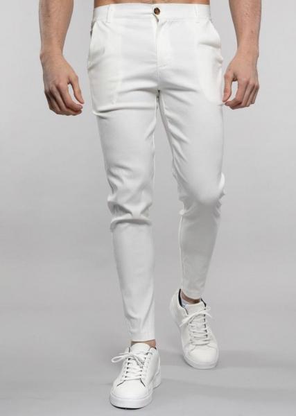 Herren weiße Skinny Chino Hose