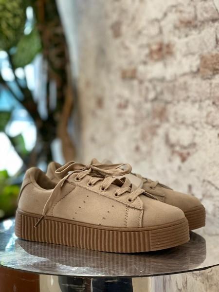 Damen schlichte Sneaker mit Plateau Sohle