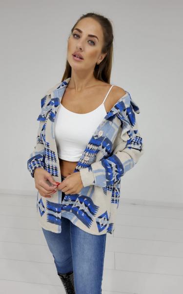 Damen Hemdjacke mit Ethno Muster