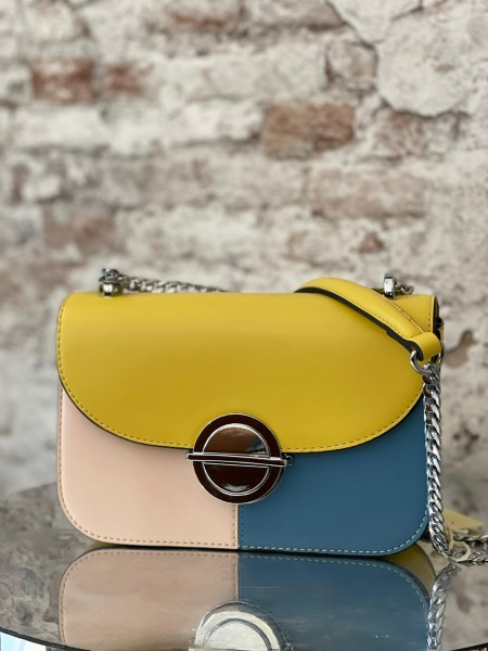 Damen Colorblock Handtasche
