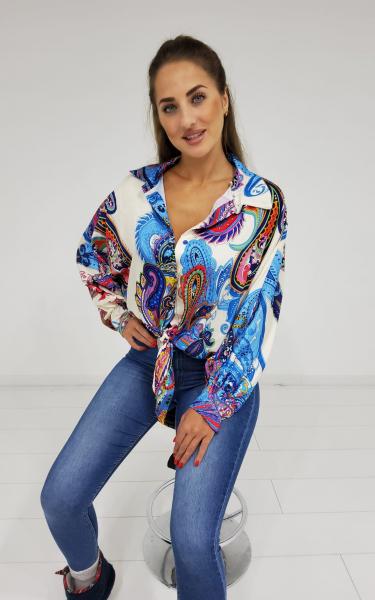 Damen Paisley Bluse zum Knoten