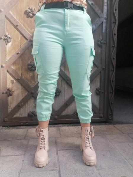 Damen Cargo Hose mit Gürtel