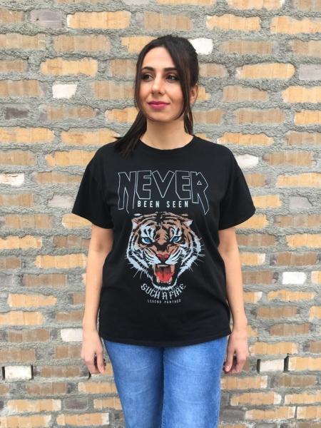 Damen T-Shirt mit Tiger Print