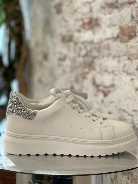 Damen Sneaker mit Glitzer Applikation