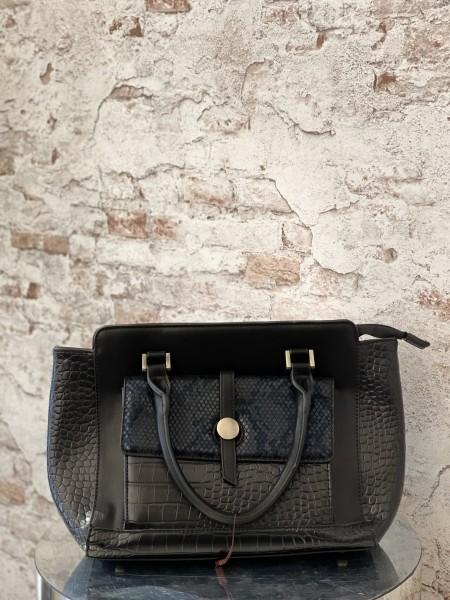 Damen Handtasche mit Krokodil und Schlangen Design