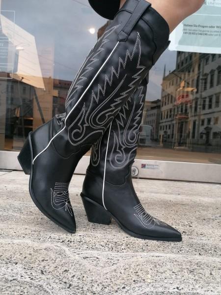 Damen bestickte Cowboy Boots