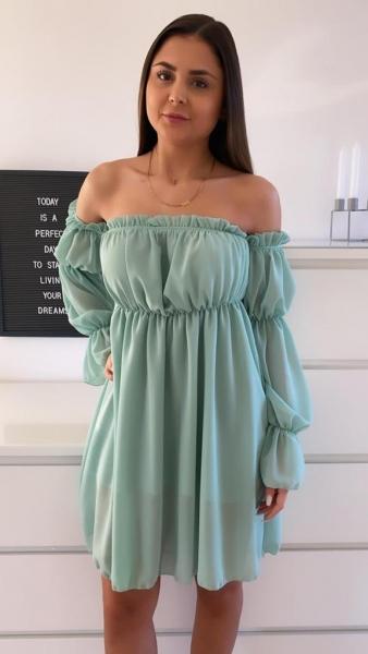 Damen schulterfreies Kleid
