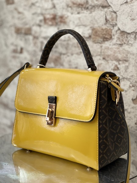 Damen gelbe Damen Handtasche