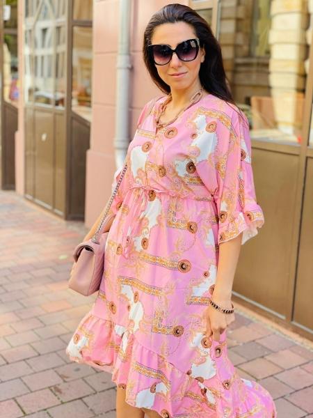 Damen Maxi Kleid mit Ketten Design