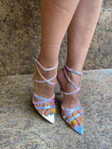 Damen irisierende High Heels